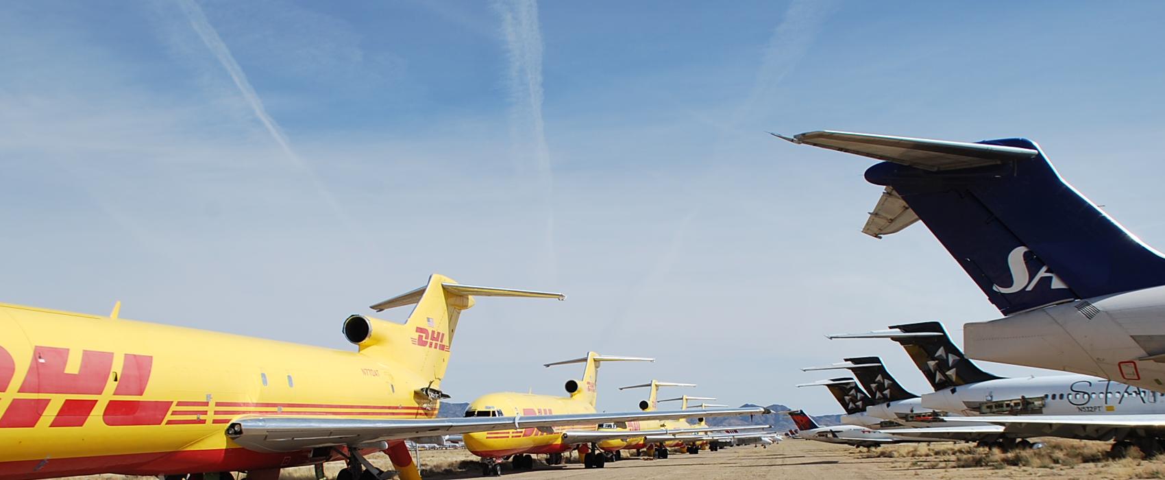 Kingman Aviation Parts, Arizona Airport, Airplane Tear Down